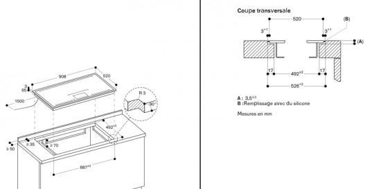 gaggenau cx492 schema coupe transversale