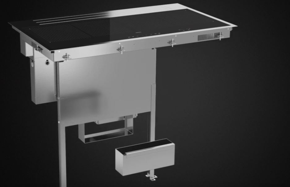plaque induction avec hotte int gr e sintesi. Black Bedroom Furniture Sets. Home Design Ideas