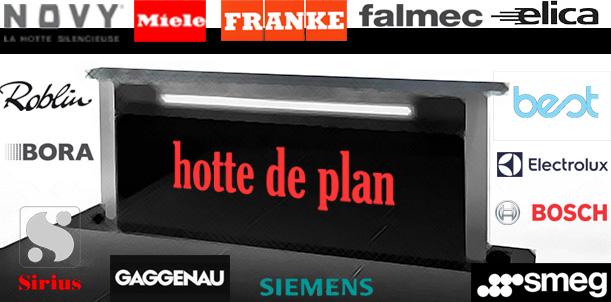 Choix de la hotte de plan hotte escamotable hotte ascenseur - Hotte sur plan de travail ...