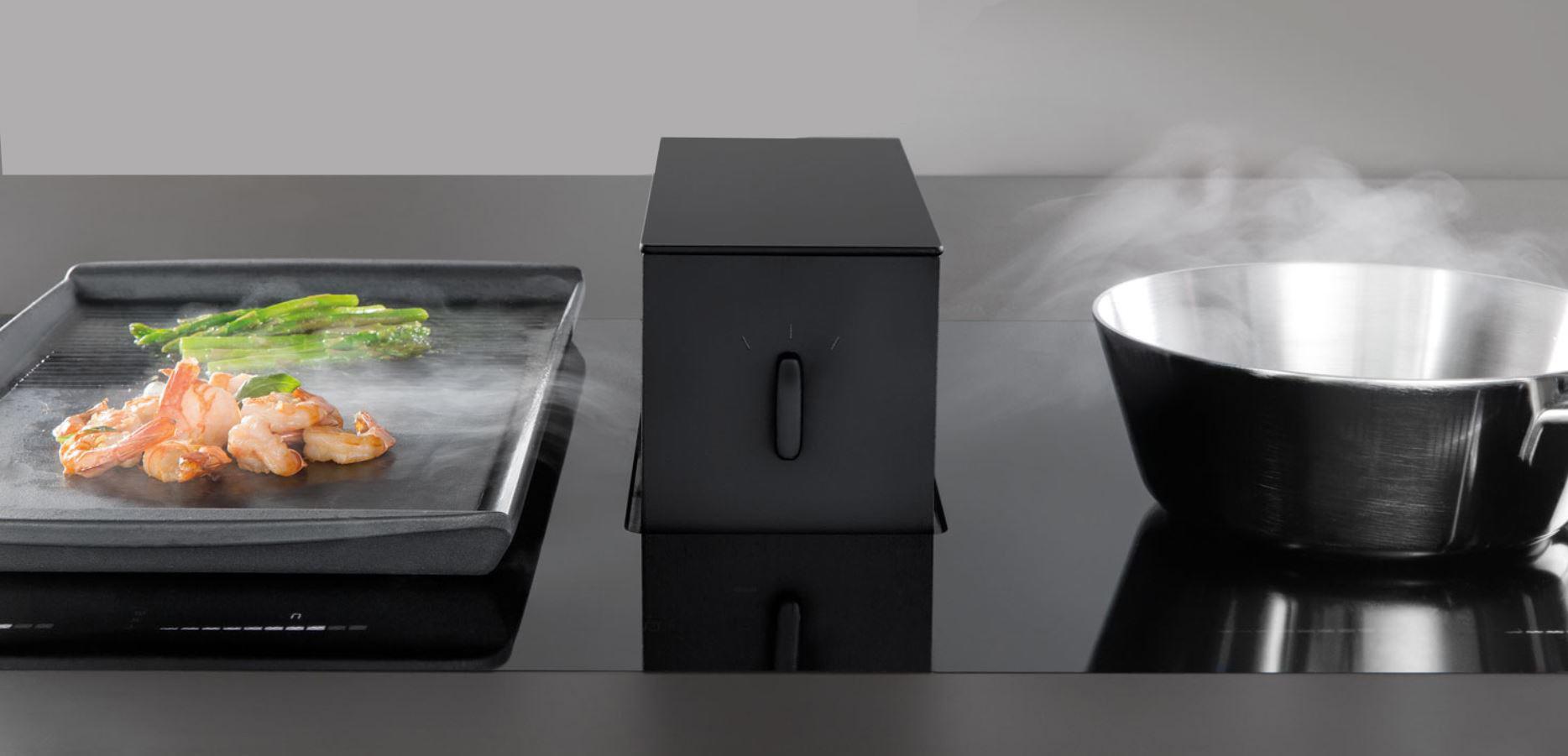 choix de la hotte de plan hotte escamotable hotte ascenseur. Black Bedroom Furniture Sets. Home Design Ideas