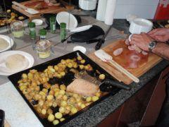 Four vzug : Pomme de terre nouvelle, Roquefort et magret de canard